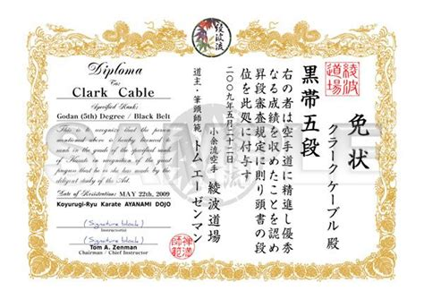 martial certificate templates free 35 best martial arts certificates images on