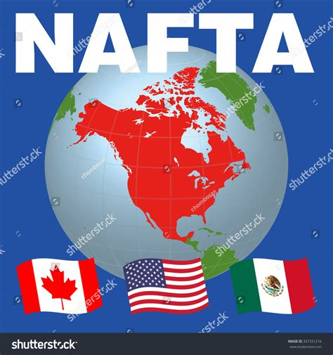 American Search Free Nafta American Free Trade Agreement And National Flags Of Canada Mexico Usa