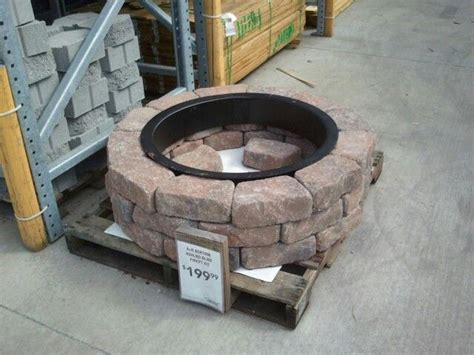 paver fire pit kit lowes » Design and Ideas