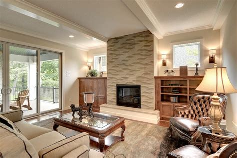 living room showrooms jms custom homes fireplace surround transitional living room other by fantasia showrooms