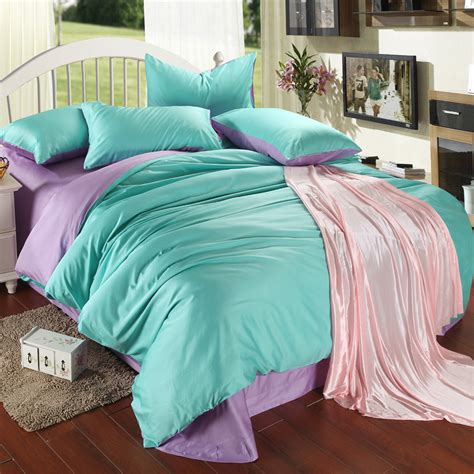 Turquoise King Bedding Sets Luxury Purple Turquoise Bedding Set King Size Blue Green Duvet Cover Sheet Bed In A