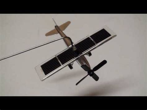 how to make flier solar flier desktop solar powered airplane with on board