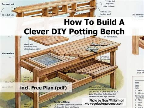 how to build a simple potting bench how to build a clever diy potting bench