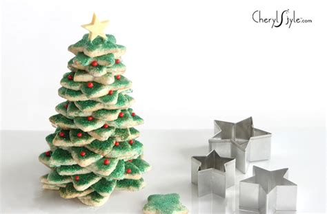 stacked sugar cookies christmas tree