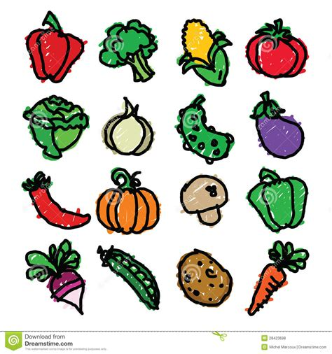 vegetable doodle vector free vegetable doodles royalty free stock photos image 28423698