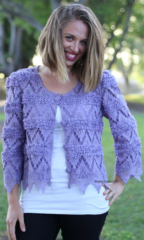 J65 01 Kardigan Bolero Wanita Spandex Big Size Hijau Motif Bunga vella cardigan bolero top in purple pretty vintage clothes acrls65370pu pretty