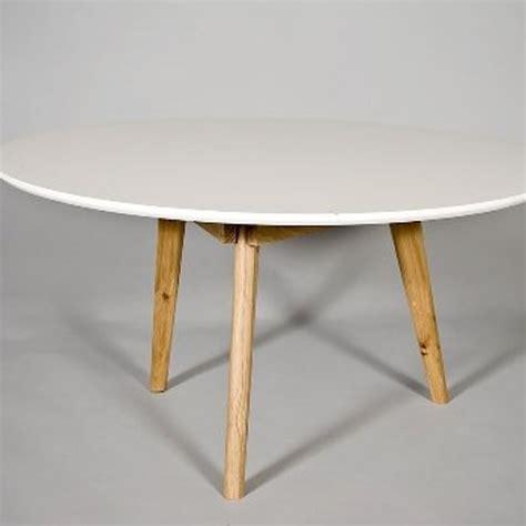 salontafel rond hout design bol salontafel radius rond wit hout