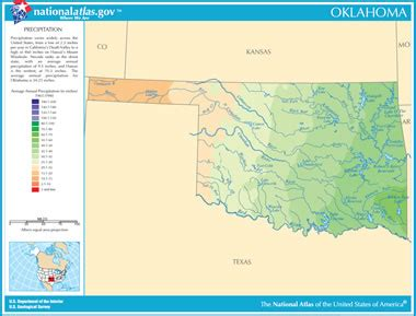 oklahoma rivers map map of oklahoma lakes streams and rivers