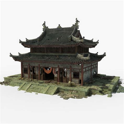 japan furniture japanese 3d model 3d temple temple cgtrader