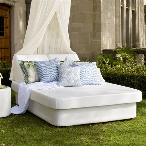 outdoor bedding la fete designs crib outdoor queen resort bed atg stores