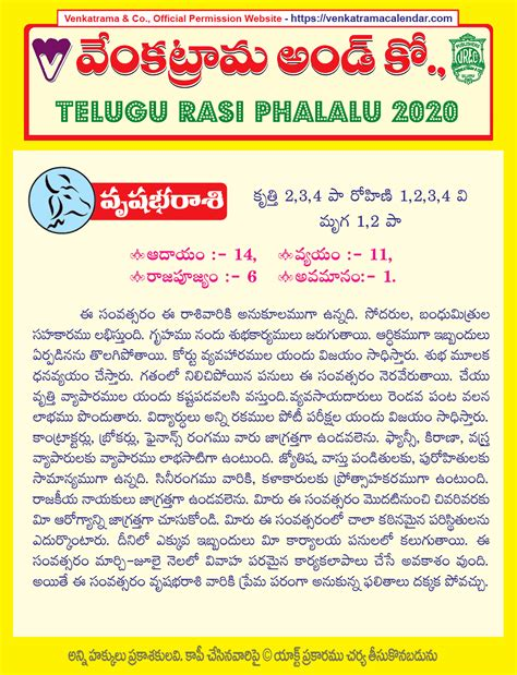 vrishabha rasi  yearly predictions  telugu