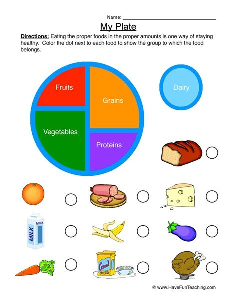 health and nutrition worksheets teaching
