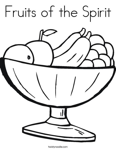 fruits of the spirit coloring page twisty noodle
