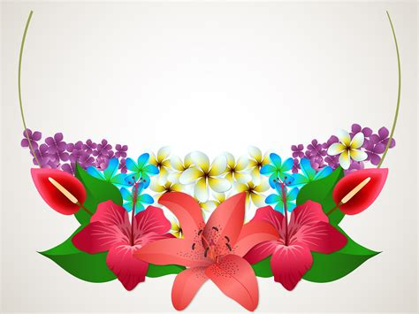 Summer Flowers Backgrounds 3d Border Frames Flowers Templates Free Ppt Grounds And Powerpoint Templates Flowers