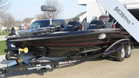 used triton bass boats for sale 2012 used triton 21 hp elite dc bass boat for sale