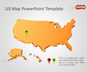 Free Us Map Powerpoint Template Free Powerpoint Templates Slidehunter Com Us Map Powerpoint Template Free