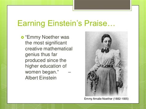 emmy noether quotes wmst in mathematics presentation
