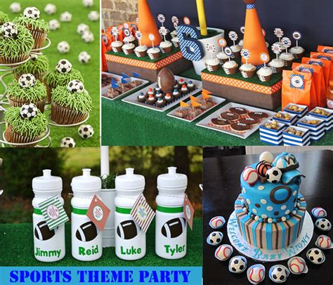 sports themed birthday decorations guest post 15 thrilled theme party for 18th birthday punch