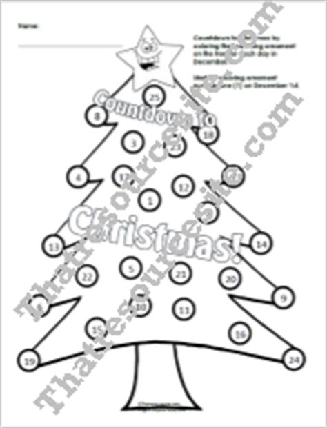 That Resource Site Tree Countdown Coloring Page