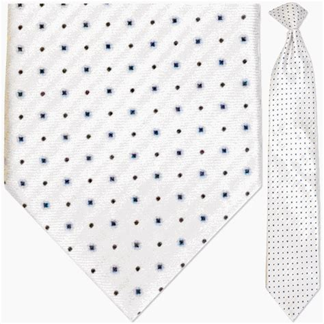 white pattern tie men s woven white and blue snowflake pattern necktie from