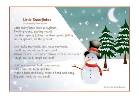 snow on the testo snowflakes song free early years primary teaching