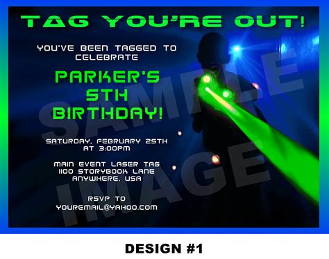 laser tag invitation laser tag invite party printable