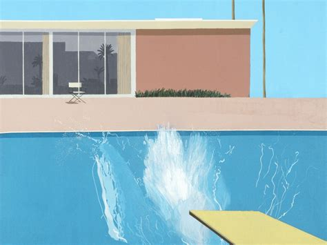 Best Home Swimming Pools by David Hockney Retrospective Exhibition At Tate Britain