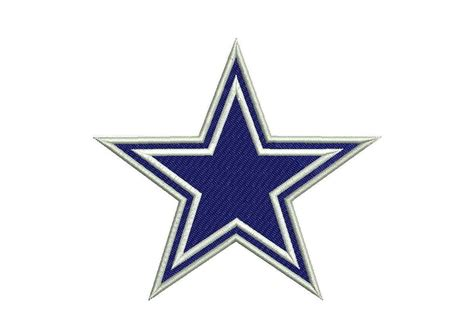 Embroidery Design Dallas Cowboys | 2 types of dallas cowboys embroidery design by appliquecloud