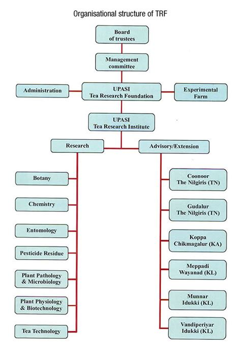 tea organization organisational chart upasi tea research foundation trf