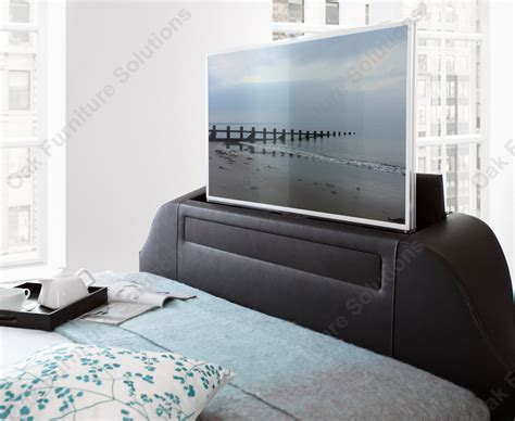 beds with tv home decorating pictures king size bed leather