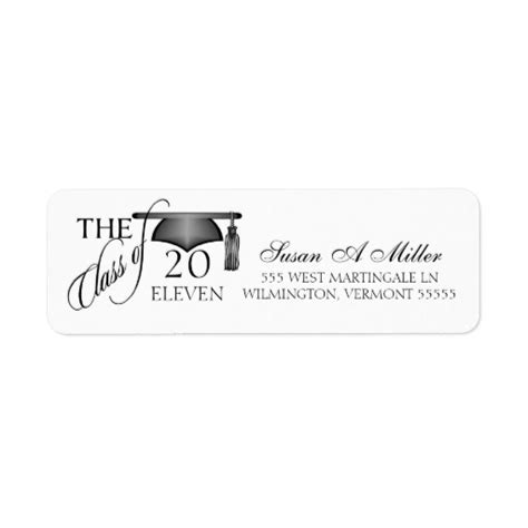 graduation labels template free graduation return address labels class of 2011 zazzle