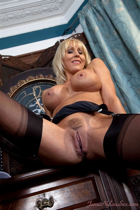 Jan Burton hot british milf In Stockings And Pantyhose sex Granny Seduction