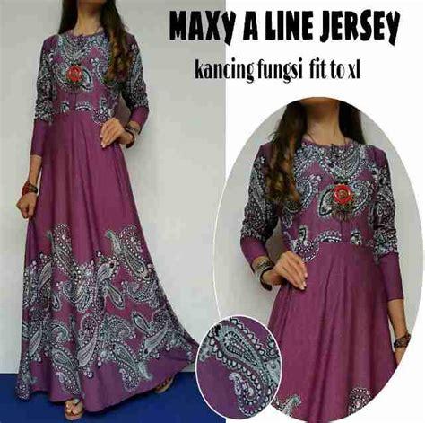 Baju Terusan Wanita Muslim Longdress Playdotty Maxy jual baju muslim maxy a line jersey kancing fungsi fit to xl harga murah depok oleh cv kharisma