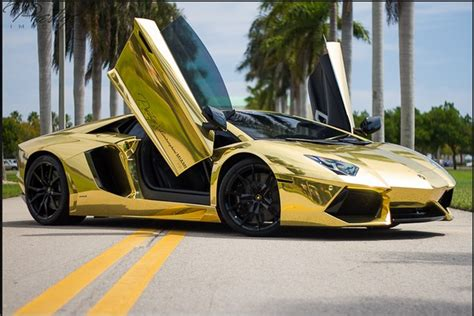 car lamborghini gold gold lamborghini miami most expensive one lamborghini
