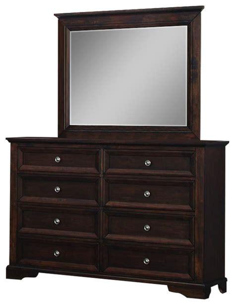 8 Drawer Dresser Espresso by Homelegance Eunice 8 Drawer Dresser And Mirror In Espresso Transitional Dressers By Beyond