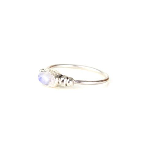 dainty bohemian sterling silver moonstone ring by amelia