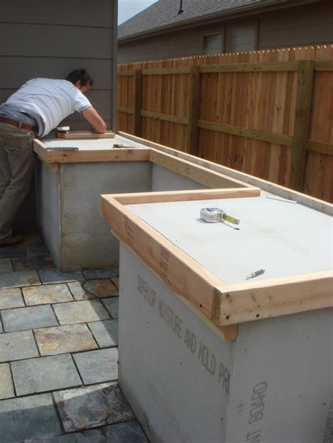 diy outdoor wood countertops diy concrete countertop for outdoor cooking spot for the home outdoor cooking