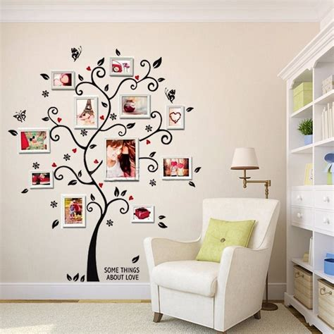 adhesive wall stickers 100 120cm 40 48in 3d diy removable photo tree pvc wall decals adhesive wall stickers mural