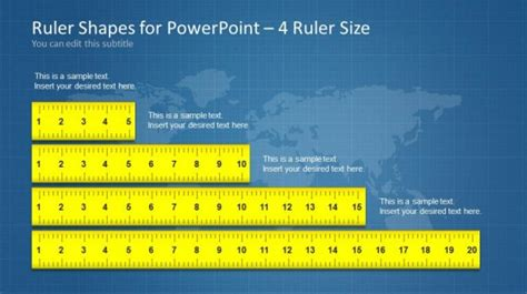 Ruler Shapes For Powerpoint Slidemodel Powerpoint Template Size Inches