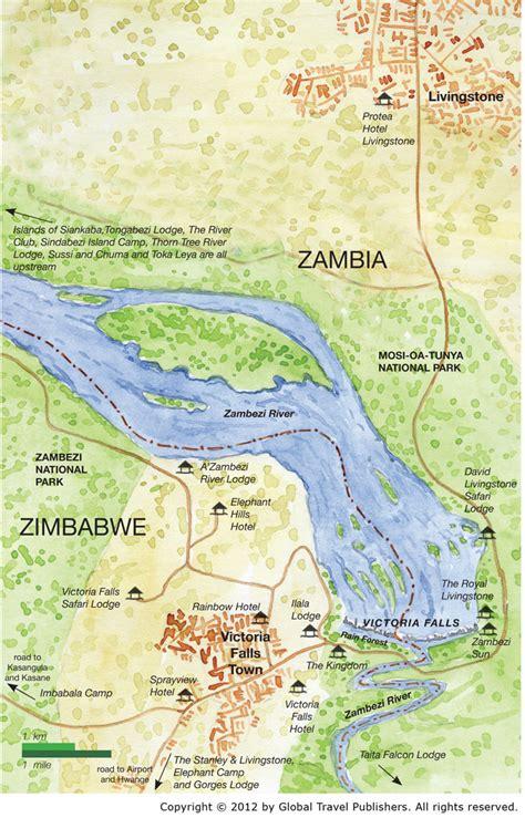 africa map falls falls