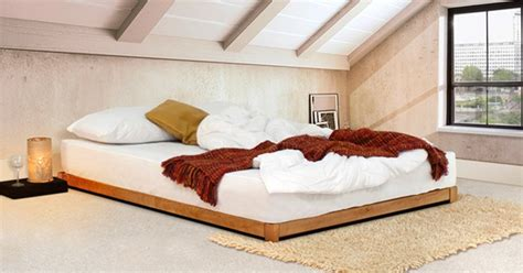 low wood bed frame low loft bed space saver get laid beds