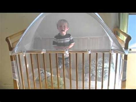 Brett S Crib Tent Youtube Keep Baby In Crib