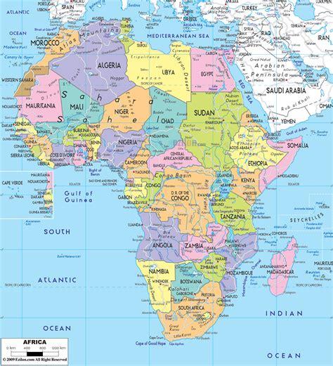 political map  africa ezilon maps