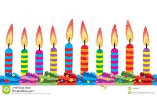 birthday candles on cake royalty free stock photography