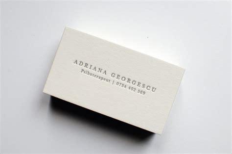 letterpress business card template 26 stunning exles of letterpress business cards