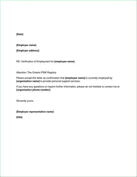 Cover Letter Exles For Current Employer by Letter Of Employment From Employer Employment Cashier