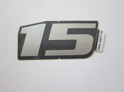 Yamaha 15 Ps Aufkleber by Sticker Aufkleber Yamaha Au 223 Enbordmotor Klijzing Aussenbord