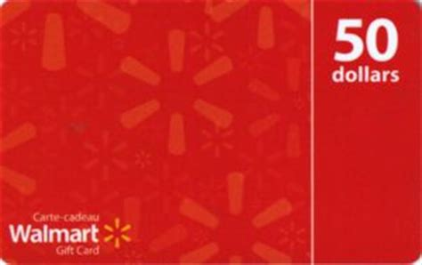 Walmart 50 Dollar Gift Card - gift card 50 dollar red background walmart canada walmart col ca wal vl11544