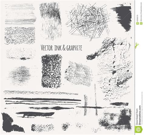 101 textures in graphite charcoal practical step by step drawing techniques for rendering a variety of surfaces textures books vector set with ink shading lines strokes stains curls