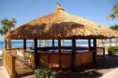 Backyard Bbq Panama City Tiki Bar Look To Disguise Above Ground Tub Swimming